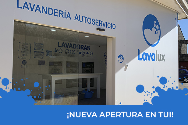 Nueva lavandería autoservicio Lavalux en Tui