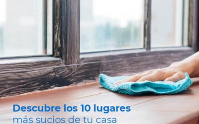 Descubre los 10 lugares más sucios de tu casa